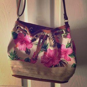 Handbags - New leave print bag